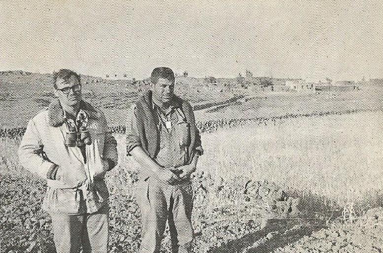 שרדו את הקרב על קלע. נתי הורביץ [מימין] ונחום גנצרסקי בקלע