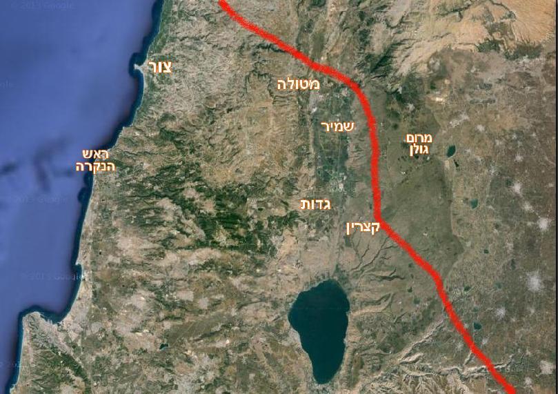 תוואי כביש הנפט מדרום הרמה, דרך הגולן - ועד לנמל צידון