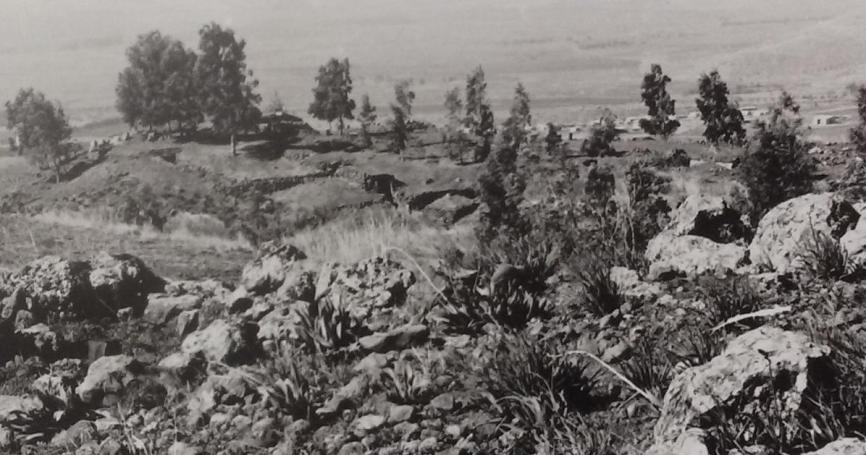 תל פאחר 1969, מבט מהיעד הדרומי לצפוני [צילום: מאיר אבוטבול]