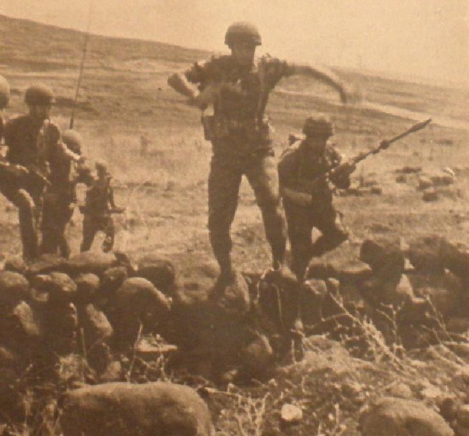 גדוד 51 בתל עזזיאת [מתוך שחזור שלאחר המלחמה]