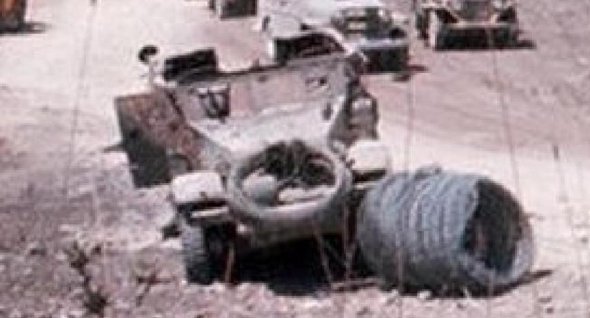 """הזחל""""ם של יצחקוב בהגדלה. ניתן לראות כי מכסה המנוע חסר"""