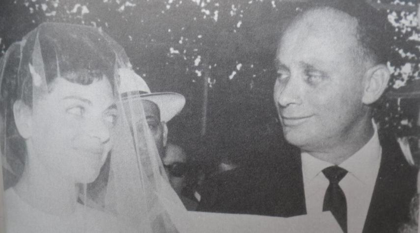 שולה ואלברט מנדלר ביום חתונתם
