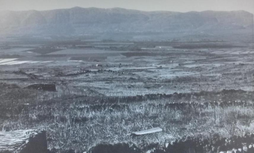 """צילום מאיזור נבי יושע אל הרמה הסורית [צילום: ארכיון צה""""ל]"""