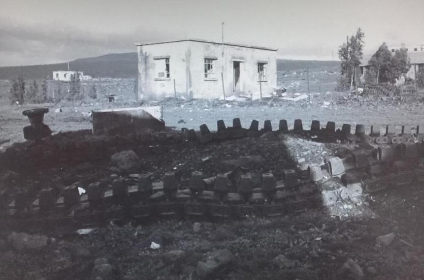 הכפר קלע בצילום מינואר 1968