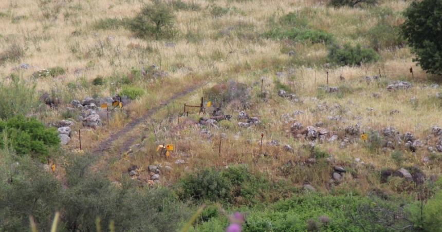 המראה מעמדות הגוריאנובים במוצב ג'לבינה אל דרך הפטרולים שבה התקדם גדוד 65