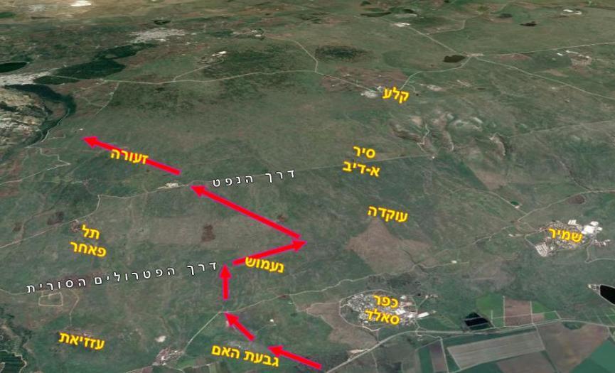 מפת תכנון חטיבה 8