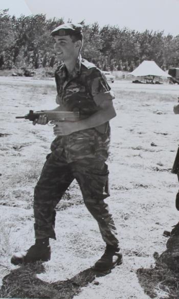 גדי שרלין בטירונות ב-1965
