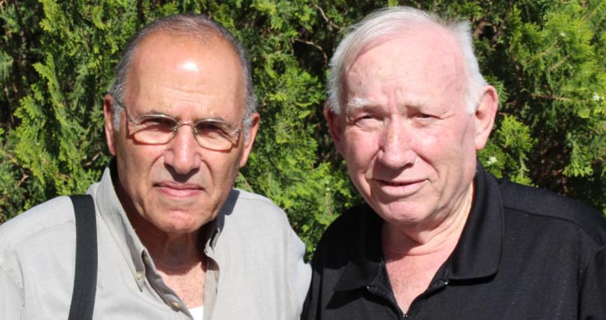 שמיל גולן (מימין) ואהרון ורדי