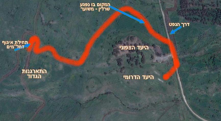 מפת האירוע