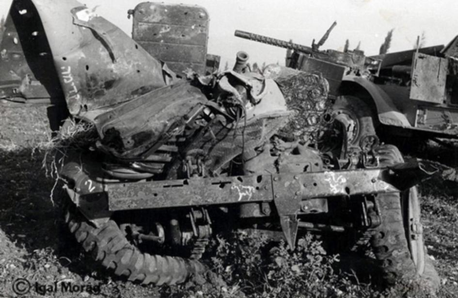 """רק""""מ פגוע מחטיבה 45 בעמק דותן [צילום: יגאל מורג]"""