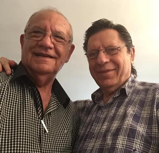 """יולי 2016, ד""""ר הורנר (מימין) והחובש עמיאל נפגשים אחרי 48 שנים"""