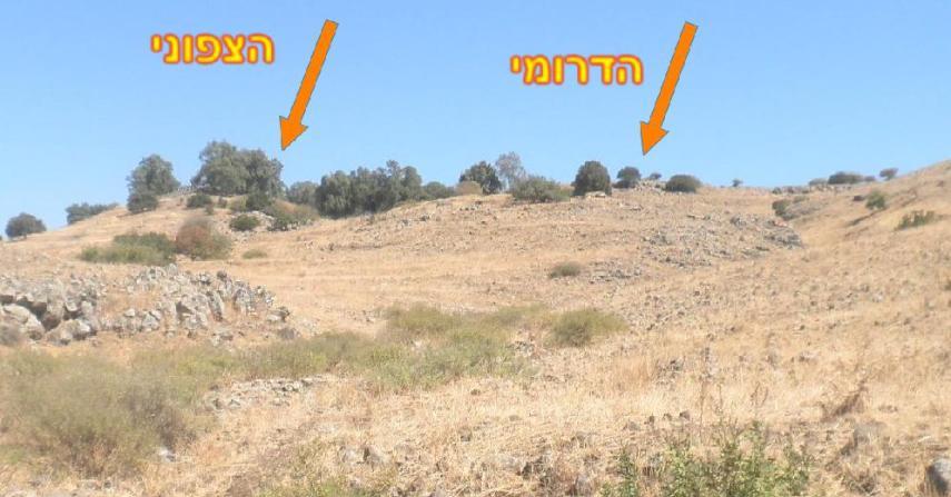 תל פאחר מהפיתול בדרך ההטיה (צילום מקורב), מכאן החלו כוחות ורדי וקרינסקי בהתקדמות אל כיבוש היעדים