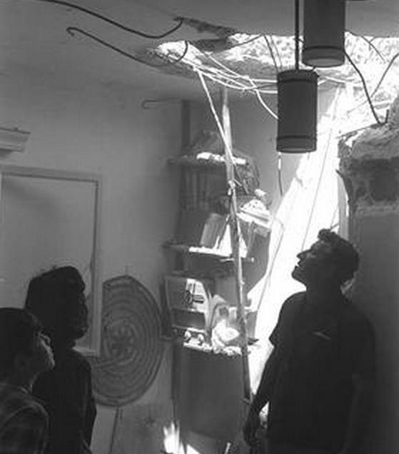 בית שנפגע בראש פינה ב-6 ביוני 67