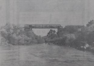 יולי 1967, גשר בנות יעקב בצילום מנהר הירדן [מדרום לצפון]. צילום: מעריב