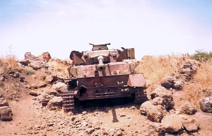 טנק פנצר סורי פגוע לאחר מלחמת ששת הימים