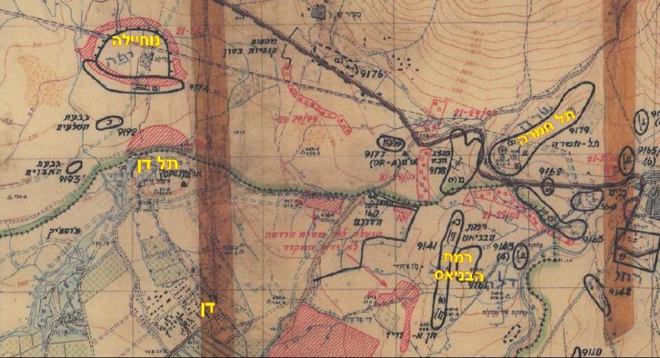 דן מול נוחיילה, מפת מודיעין פיקוד צפון