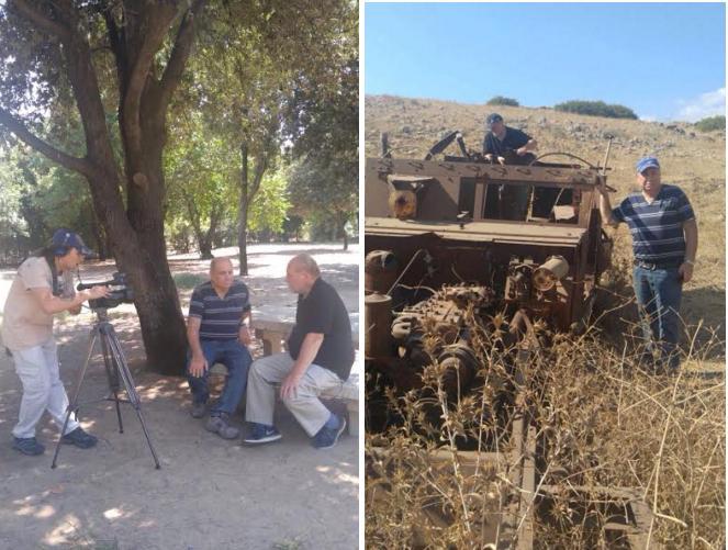 """ישראל הוברמן על הזחל""""ם בגבעת האם עם אבי דרימר"""