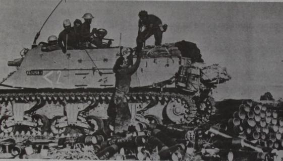 תותח 105 מגדוד 827 בעת הלחימה בצפון השומרון [צילום: חטיבה 37]