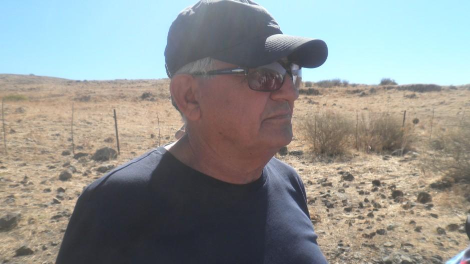 עזרא סלע בדרך ההטיה, בסיור מפקדים ב-2013