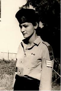 אביגיל קליין בעת שירותה בגולני