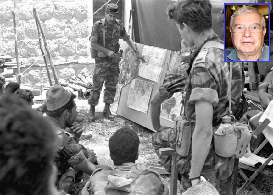 """הילד הזה הוא אני. סג""""מ אבי בן משה עומד מימין בקבוצת פקודות של גדוד 51, וכיום"""