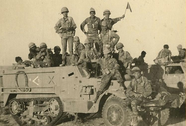 פלוגה ב' בגדוד 51 בתל עזזיאת לאחר מלחמת ששת הימים