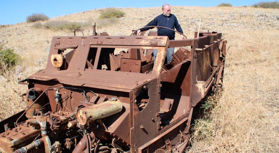 """ישראל הוברמן על הזחל""""ם שעליו היה בדרך ההטיה אל תל פאחר ושנפגע בדרך"""