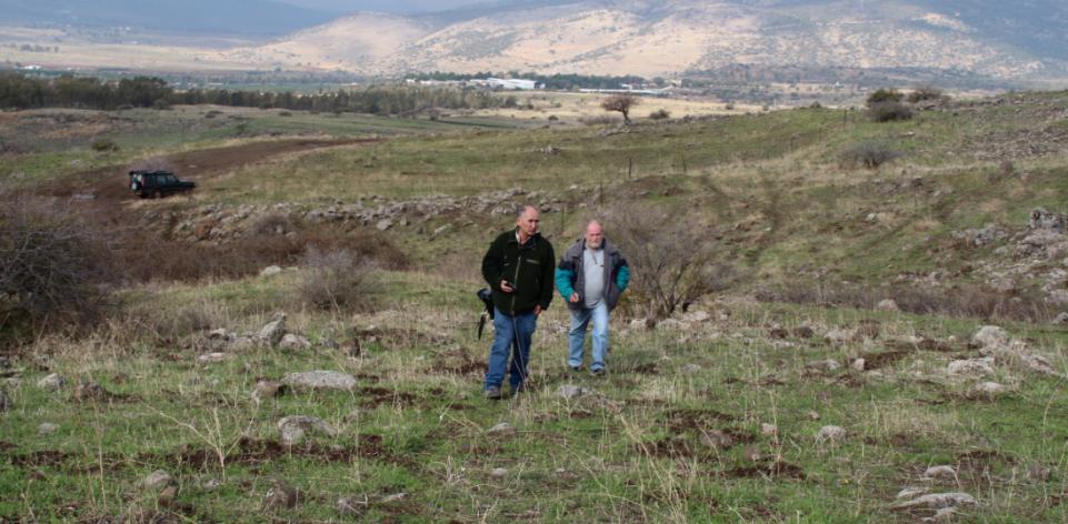 הוברמן ויהודה לוי עולים מדרך ההטיה מזרחה
