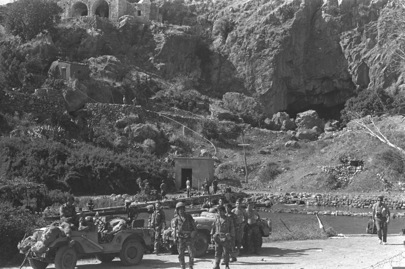 """כוחות צה""""ל במקורות הבניאס [ארכיון צה""""ל]"""