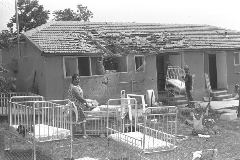 בית הילדים בקיבוץ תל קציר אחרי המלחמה (צילום: אסף קוטין)