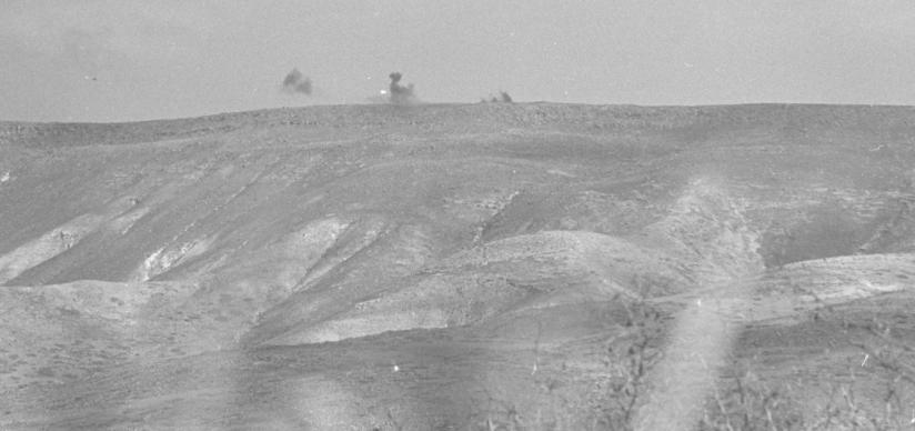 """הפגזת מטרות סוריות ע""""י חיל האוויר (צילום: משה מילנר)"""