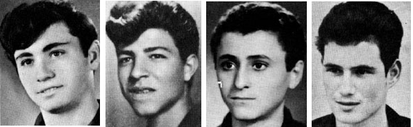 The four Israeli soldiers who died at the Battle on the Banias in 1967